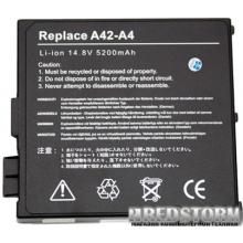 Аккумулятор Drobak для Asus A42-A4 Black (14.8V/5200mAh/8Cells) (100341)
