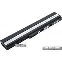 Аккумулятор PowerPlant для Asus A40J Black (14.4V/5200mAh/6Cells) (NB00000198)