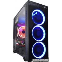 Корпус Frime Sakaar Blue LED (Sakaar-U3-4BSRF-WP)