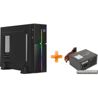 Корпус Aerocool Playa Slim RGB Black + Блок питания Aerocool SX400 400W