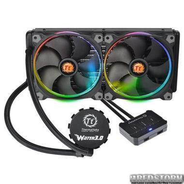 Система жидкостного охлаждения Thermaltake Water 3.0 Riing RGB 280 (CL-W138-PL14SW-A)