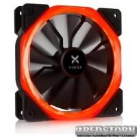 Кулер для корпуса Vinga LED fan-01 red