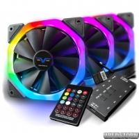 Набор Frime RGB-вентиляторов + Fun hub + ДУ Frime Iris Galaxy KIT (IRISGALAXYKIT)