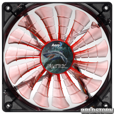Кулер Aerocool Shark Fan 120 мм Orange LED