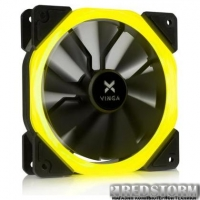 Кулер до корпусу Vinga LED fan-01 yellow