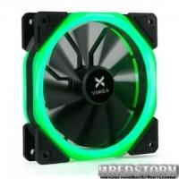 Кулер для корпуса Vinga LED fan-02 green