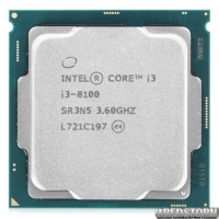 Процессор Intel Core i3 8100 3.6GHz (6MB, Coffee Lake, 65W, S1151) Tray (CM8068403377308)