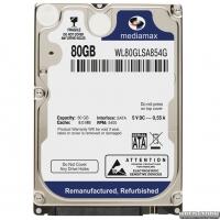 Жесткий диск MediaMax 80GB 5400rpm 8MB WL80GLSA854G 2.5 SATA Refurbished