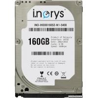 i.norys 160GB INO-IHDD0160S2-N1-5408 5400rpm 8MB 2.5 SATA II