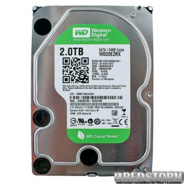 Жесткий диск Western Digital Green 2TB 5400rpm 64МB WD20EZRX 3.5 SATA III