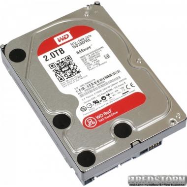 Жесткий диск Western Digital Red 2TB 5400rpm 64МB WD20EFRX 3.5 SATA III