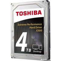 "Toshiba High-Performance X300 4TB 7200rpm 128MB HDWE140UZSVA 3.5"" SATA III"