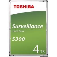 """Toshiba Surveillance Hard Drive S300 4TB 5400rpm 128MB HDWT140UZSVA 3.5"""" SATA III"""