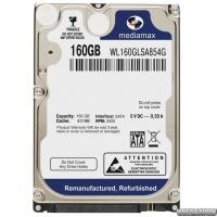 Жесткий диск MediaMax 160GB 5400rpm 8MB WL160GLSA854G 2.5 SATA Refurbished