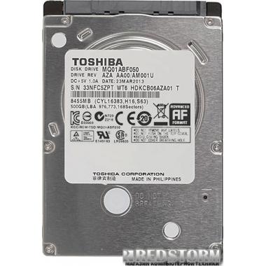 """Жесткий диск Toshiba 500GB 5400rpm 8MB MQ01ABF050 2.5"""" SATAIII"""