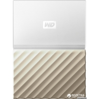 Жесткий диск Western Digital My Passport Ultra 1TB WDBTLG0010BGD-WESN 2.5 USB 3.0 External White-Gold