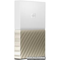 Жесткий диск Western Digital My Passport Ultra 2000GB White/Gold (WDBFKT0020BGD-WESN)