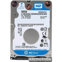 "Western Digital Blue 500GB 5400rpm 16MB WD5000LPCX 2.5"" SATAIII"