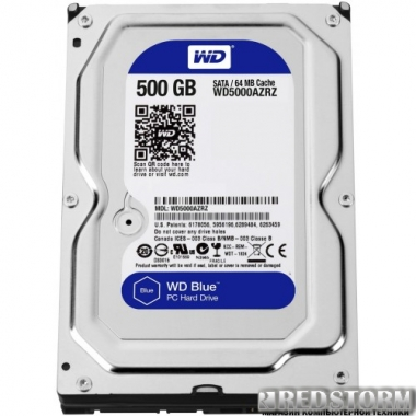 Жесткий диск Western Digital Blue 500GB 5400rpm 64МB WD5000AZRZ 3.5 SATA III