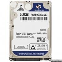 Жесткий диск MediaMax 500GB 5400rpm 8MB WL500GLSA854G 2.5 SATA Refurbished