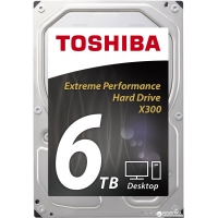 "Toshiba High-Performance X300 6TB 7200rpm 128MB HDWE160UZSVA 3.5"" SATA III"