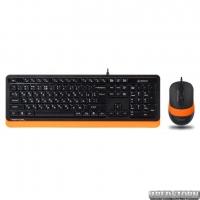 Комплект проводной A4Tech F1010 USB Orange (4711421943093)