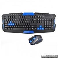 Игровая русская беспроводная клавиатура + мышка HK 8100 (844572297)