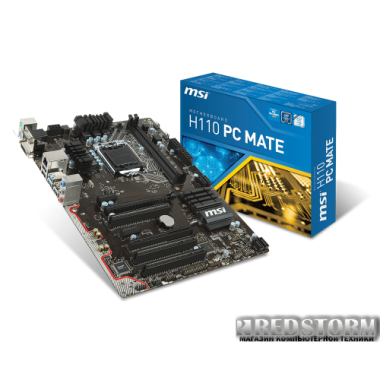Материнская плата MSI H110 PC Mate (s1151, Intel H110, PCI-Ex16)