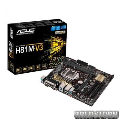 Материнская плата Материнская плата Asus H81M-V3 (s1150, Intel H