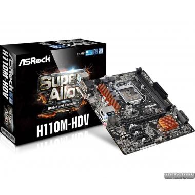ASRock H110M-HDV (s1151, Intel H110, PCI-Ex16)