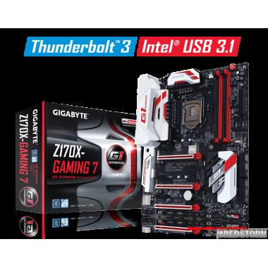 Материнская плата Gigabyte GA-Z170X-Gaming 7 (s1151, Intel Z170, PCI-Ex16)
