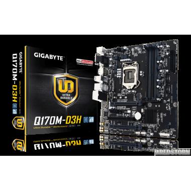Материнская плата Gigabyte GA-Q170M-D3H (s1151, Intel Q170, PCI-