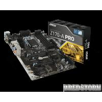 MSI Z170-A Pro (s1151, Intel Z170, PCI-Ex16)
