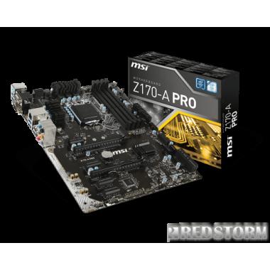 Материнская плата MSI Z170-A Pro (s1151, Intel Z170, PCI-Ex16)