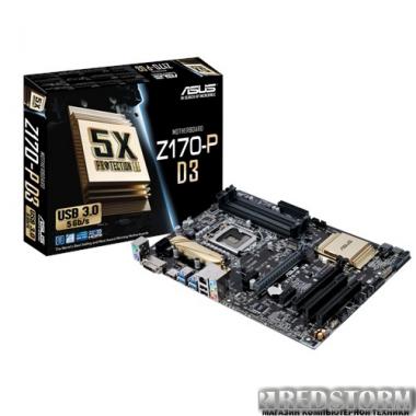 Материнская плата Asus Z170-P D3 (s1151, Intel Z170, PCI-Ex16)