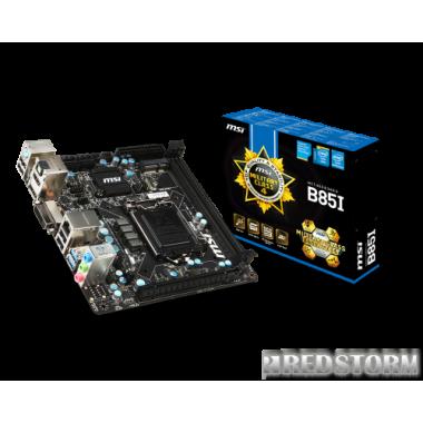 Материнская плата MSI B85I (s1150, Intel B85, PCI-Ex16)