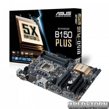 Материнская плата Asus B150M-Plus (s1151, Intel B150, PCI-Ex16)