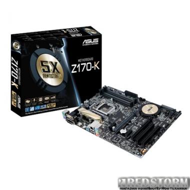 Материнская плата Asus Z170-K (s1151, Intel Z170, PCI-Ex16)