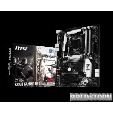 Материнская плата MSI Z170A Krait Gaming R6 Siege (s1151, Intel