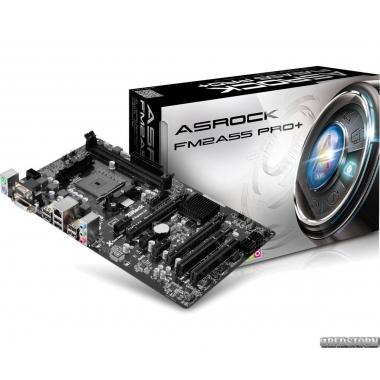 Материнская плата ASRock FM2A55 PRO+ (sFM2/FM2+, AMD A55, PCI-Ex
