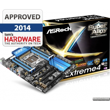 Материнская плата ASRock X99 Extreme4 (s2011-3, Intel X99, PCI-Ex16)