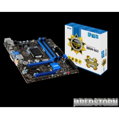 Материнская плата MSI B85M-G43 (s1150, Intel B85, PSI-E 3.0x16)