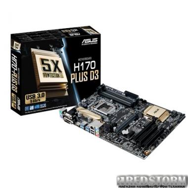 Материнская плата Asus H170-Plus D3 (s1151, Intel H170, PCI-Ex16