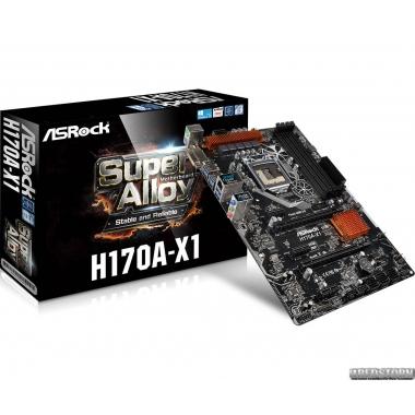 Материнская плата ASRock H170A-X1 (s1151, Intel H170, PCI-Ex16)