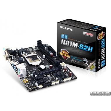 Материнская плата Gigabyte GA-H81M-S2H (s1150, Intel H81, PCI-Ex16)