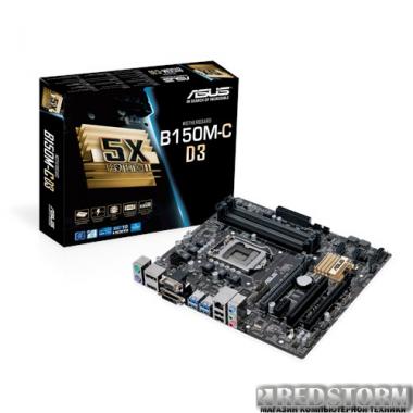 Материнская плата Asus B150M-C D3 (s1151, Intel B150, PCI-Ex16)