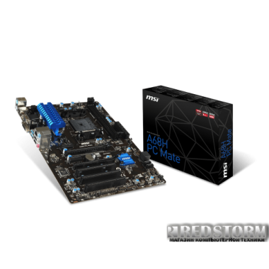 Материнская плата MSI A68H PC Mate (sFM2/FM2+, AMD A68H, PCI-Ex16)