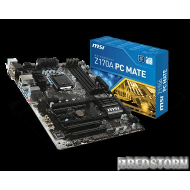Материнская плата MSI Z170A PC Mate (s1151, Intel Z170, PCI-Ex16)