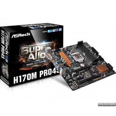 Материнская плата ASRock H170M Pro4S (s1151, Intel H170, PCI-Ex16)
