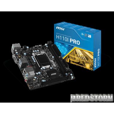 Материнская плата MSI H110I Pro (s1151, Intel H110, PCI-Ex16)